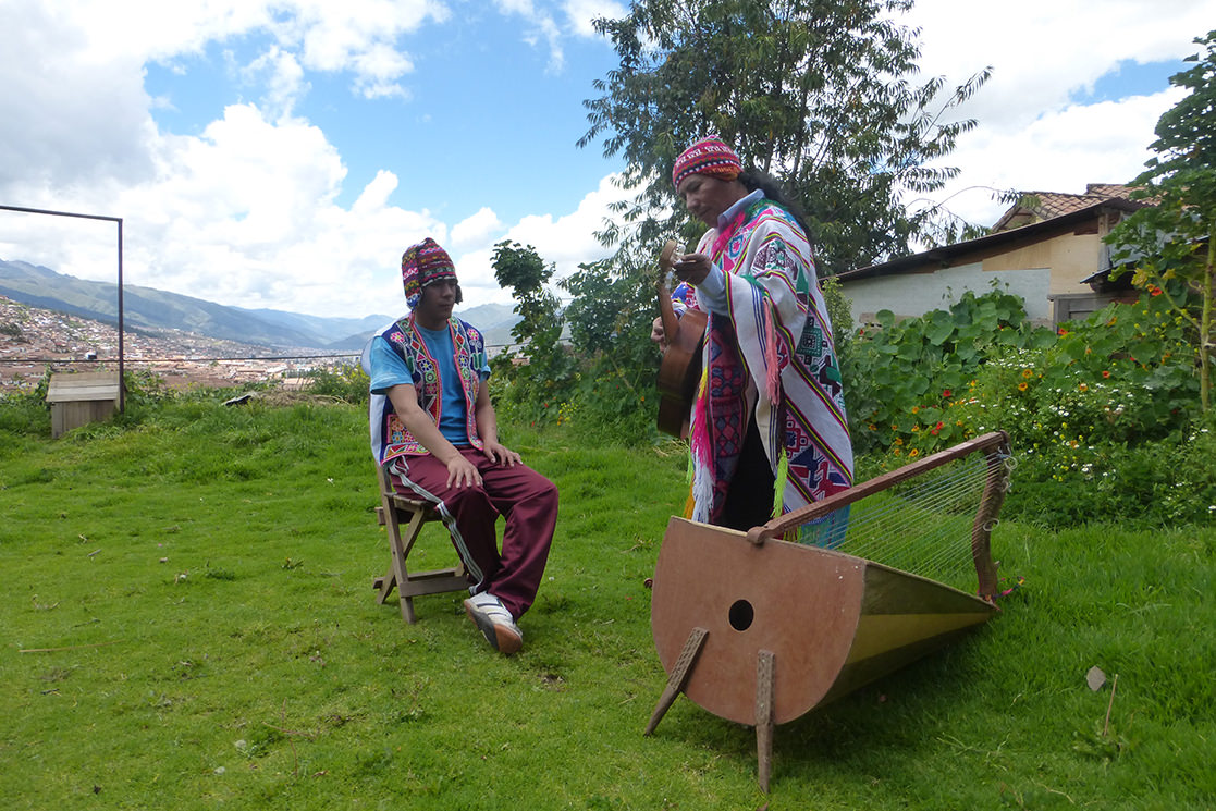 Quechua musicians in Cusco