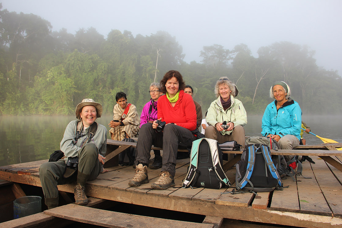 Happy Trekkers in Manu - Andean Spirit